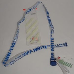 Off-White Blue Industrial Rubber Belt 200cm